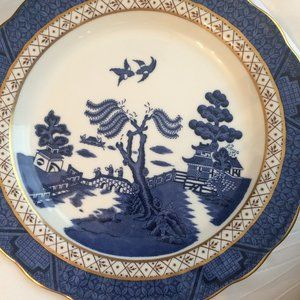 """Booths Real Old WIllow 8 3/8"""" Luncheon Plate"""